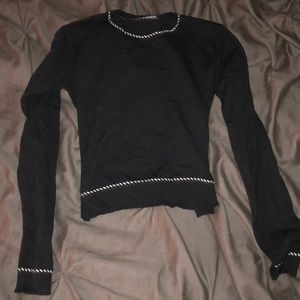 cropped brandy melville long sleeve